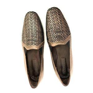 Sesto Meucci Metallic Woven Loafers RARE HTF 9.5 N